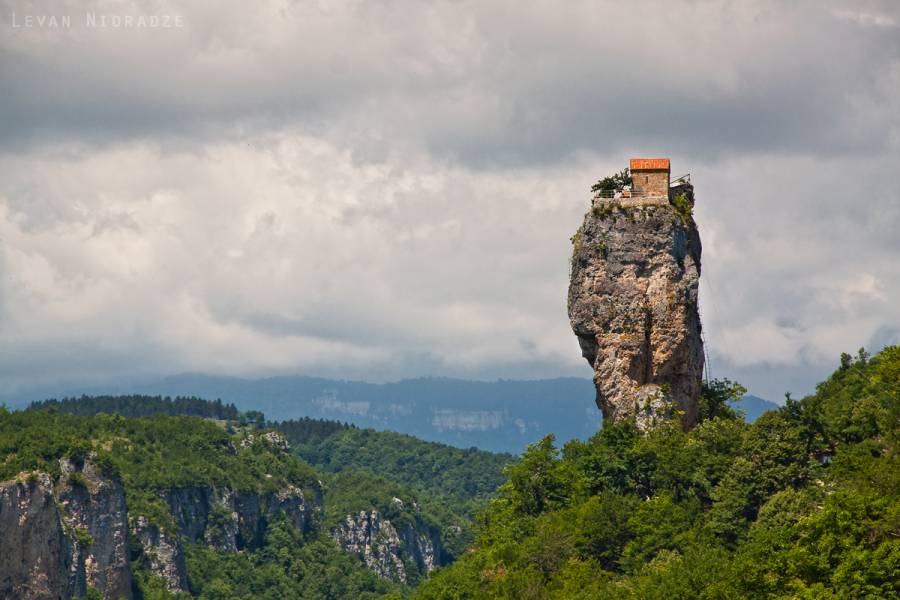 Katskhi pillar-The monastery built on the cliff (Video)