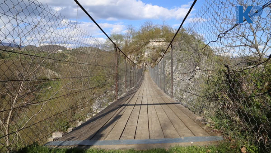 Nikrisi gorge – Cable-stayed bridge (Video)